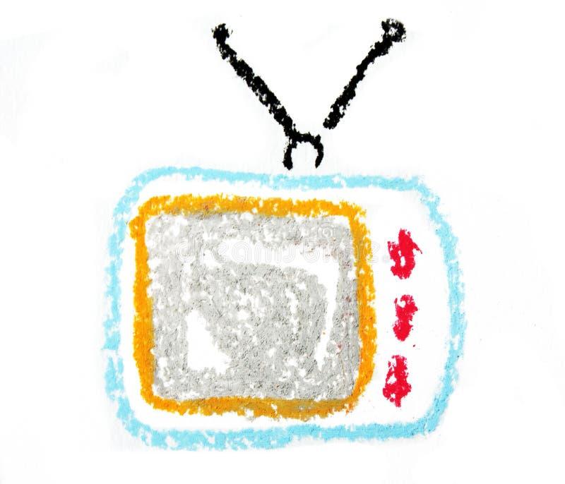 ретро комплект tv иллюстрация вектора
