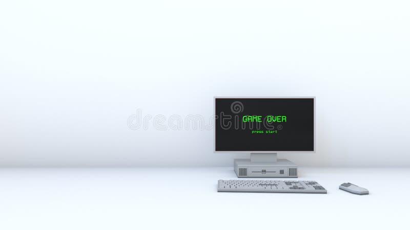 Ретро компютерная игра над белой предпосылкой 02 стоковые изображения