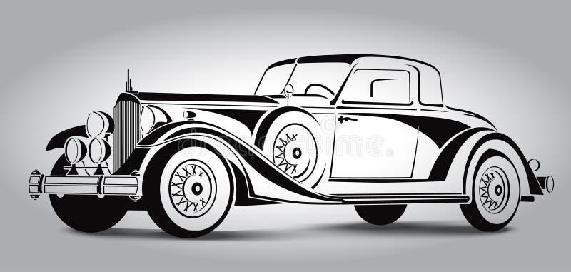 Ретро конспект автомобиля выравнивает вектор также вектор иллюстрации притяжки corel стоковые изображения