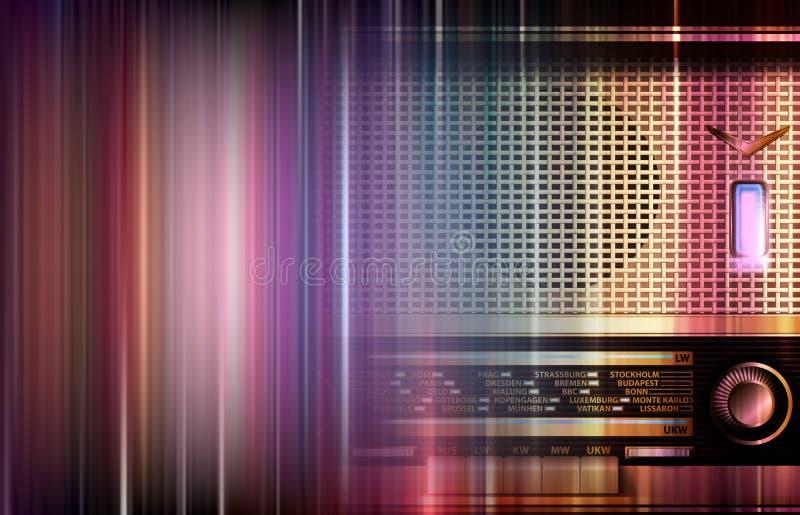 Ретро конспект радио бесплатная иллюстрация