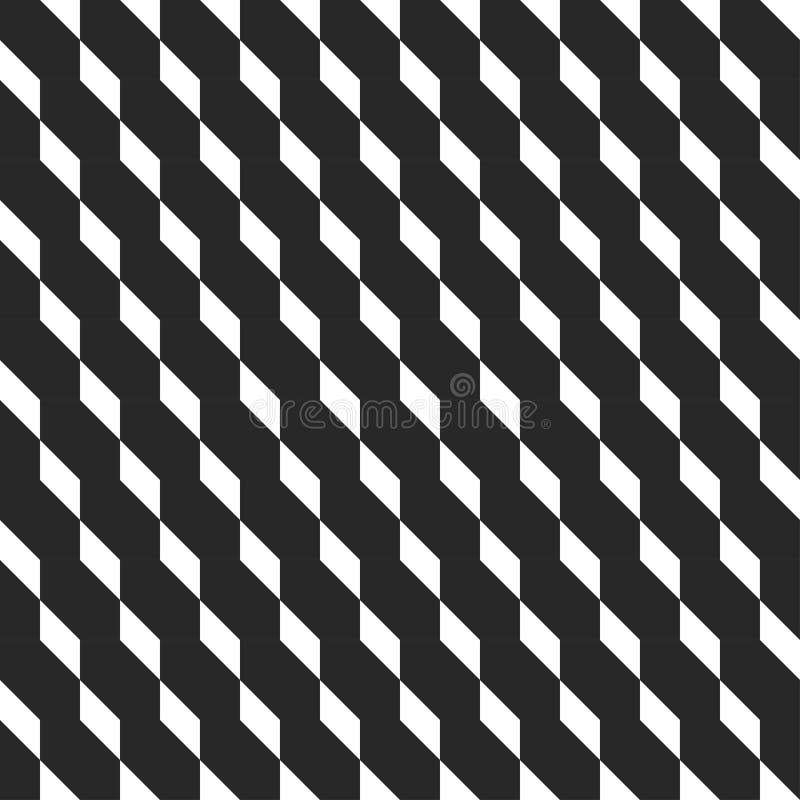 Ретро куб Мемфиса геометрический формирует безшовные абстрактные картины Мода 80-90s битника Текстуры беспорядка оптически иллюстрация вектора
