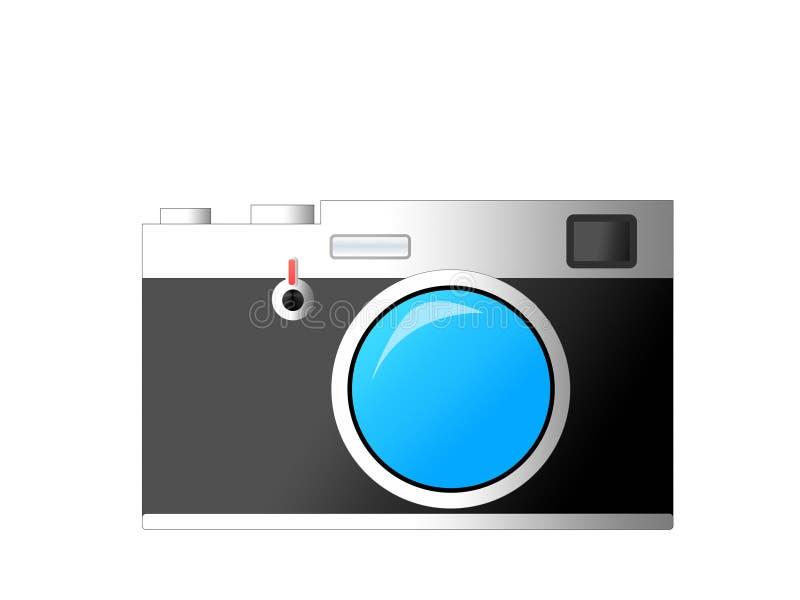 Ретро классическая камера дальномера в стиле иллюстрации стоковые фотографии rf