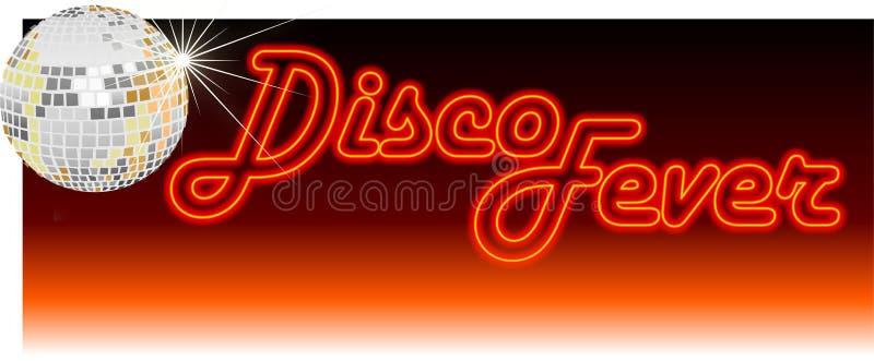 ретро лихорадки диско померанцовое иллюстрация вектора