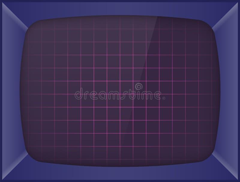 Ретро машина видеоигры предпосылка экрана иллюстрация вектора