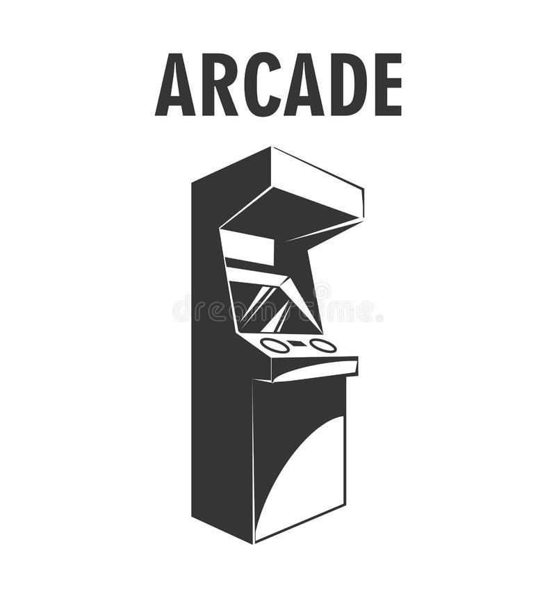Ретро машина видеоигры аркады Значок машины игры вектор бесплатная иллюстрация