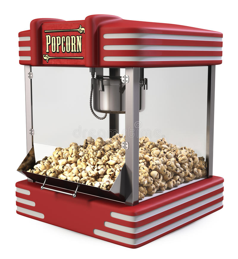 Ретро машина попкорна иллюстрация штока