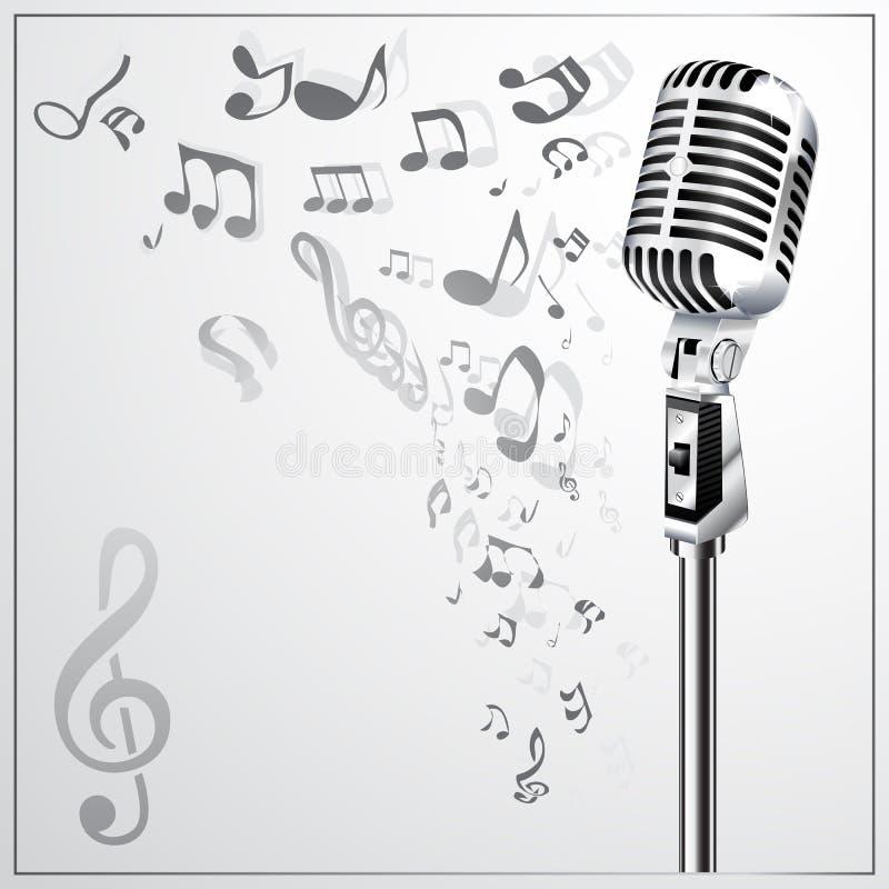 ретро микрофона предпосылки музыкальное бесплатная иллюстрация