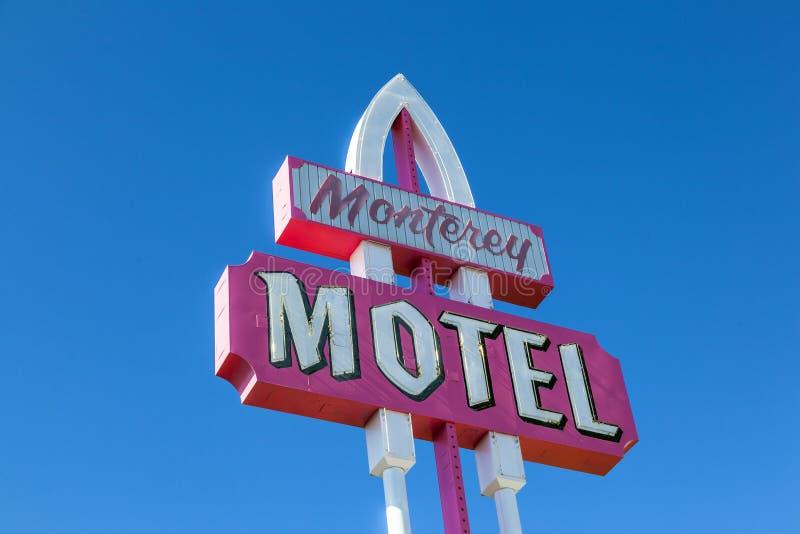 Ретро мотель Монтерей дизайна стоковое изображение rf