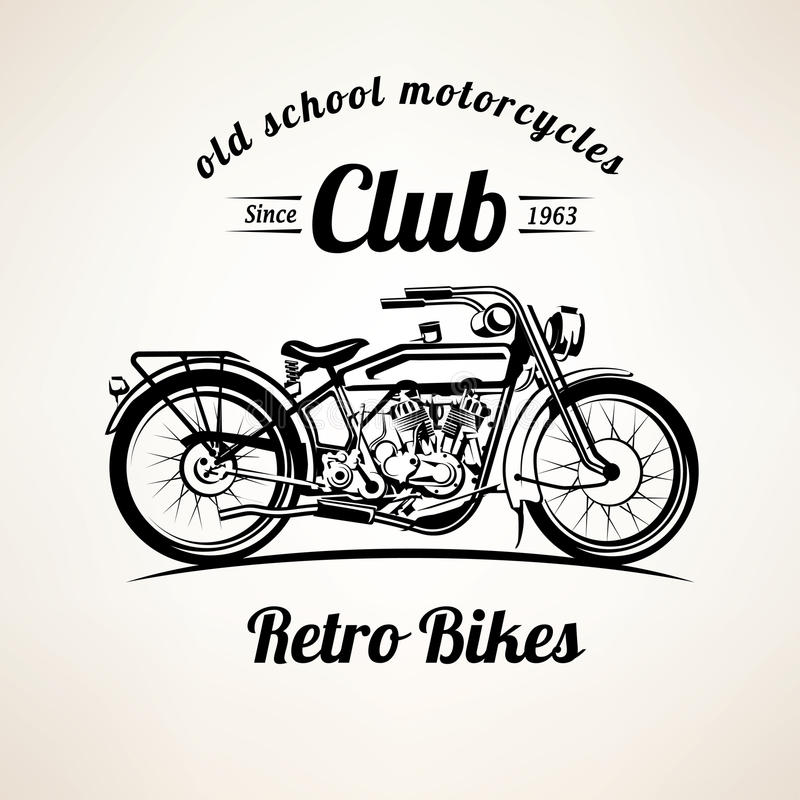 Ретро мотоцилк emblems и обозначает шаблон иллюстрация штока