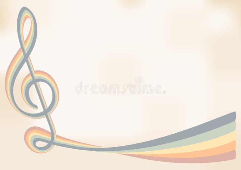 Ретро музыкальная предпосылка бесплатная иллюстрация