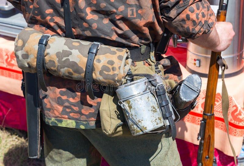 Ретро оборудование солдата формы немецкой армии стоковая фотография rf