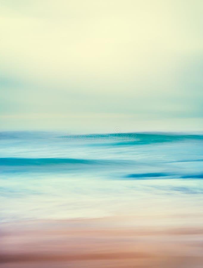 Ретро океанские волны стоковая фотография