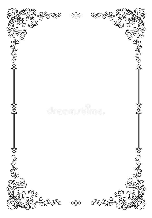Ретро орнаментальная рамка иллюстрация штока