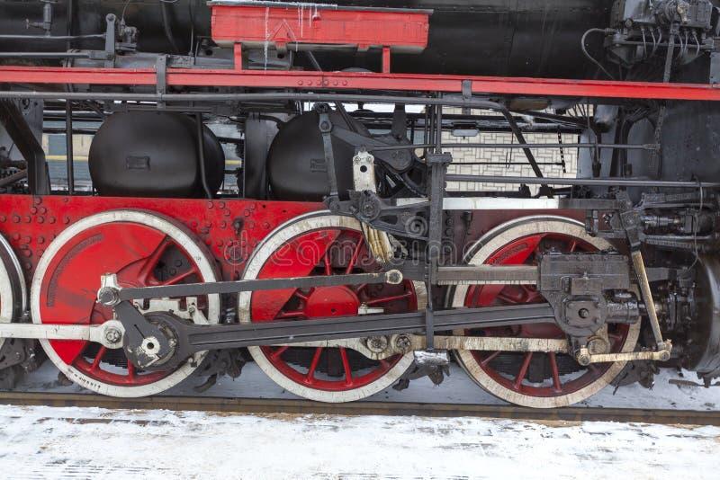 ретро поезд пара стоковое фото