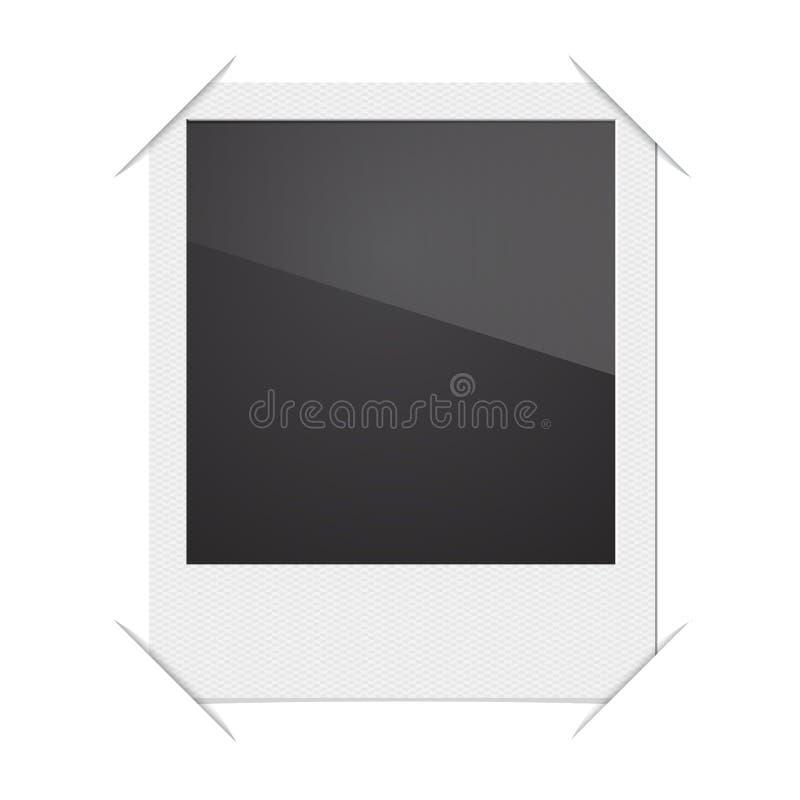 Ретро поляроид рамки фото на белой предпосылке бесплатная иллюстрация