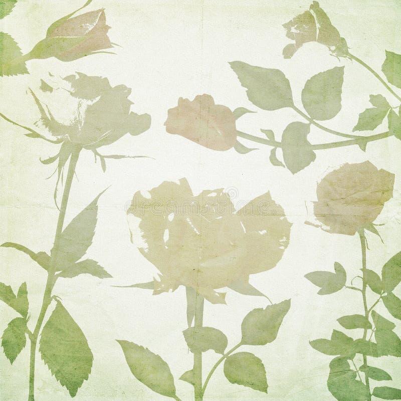Ретро предпосылка обоев цветков стоковое изображение