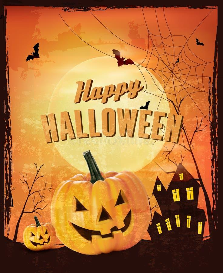 Ретро предпосылка хеллоуина иллюстрация штока