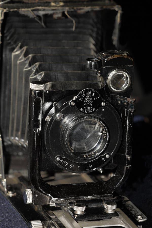 Ретро предпосылка черноты большого формата камеры стоковые фото