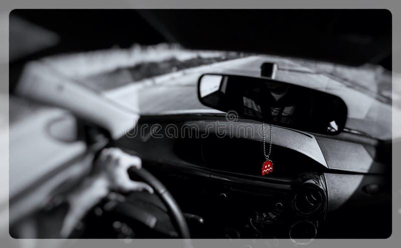 Ретро призрак pacman стоковое изображение rf