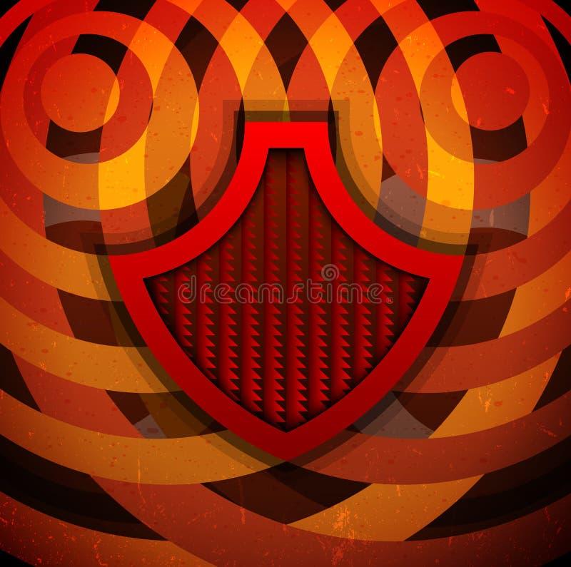 Ретро плакат с экраном иллюстрация вектора
