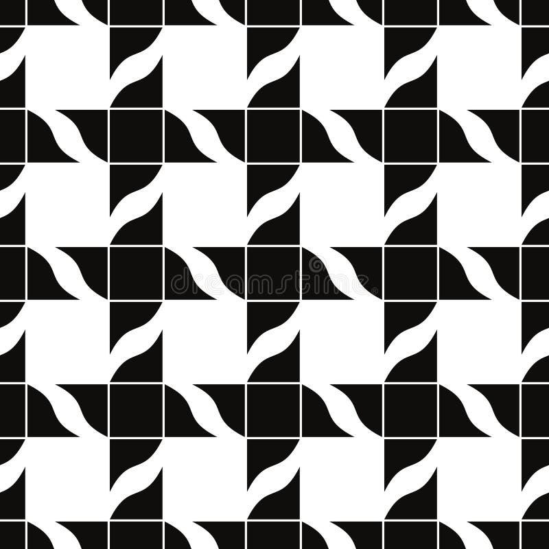 Ретро плитки безшовная картина, предпосылка вектора бесплатная иллюстрация