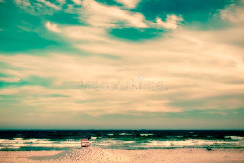 Ретро пляж стиля стоковые изображения
