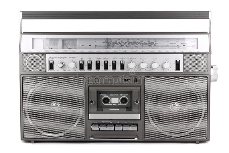 Ретро радио стоковое изображение