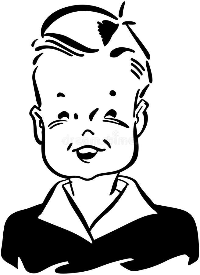 Ретро ребенк бесплатная иллюстрация