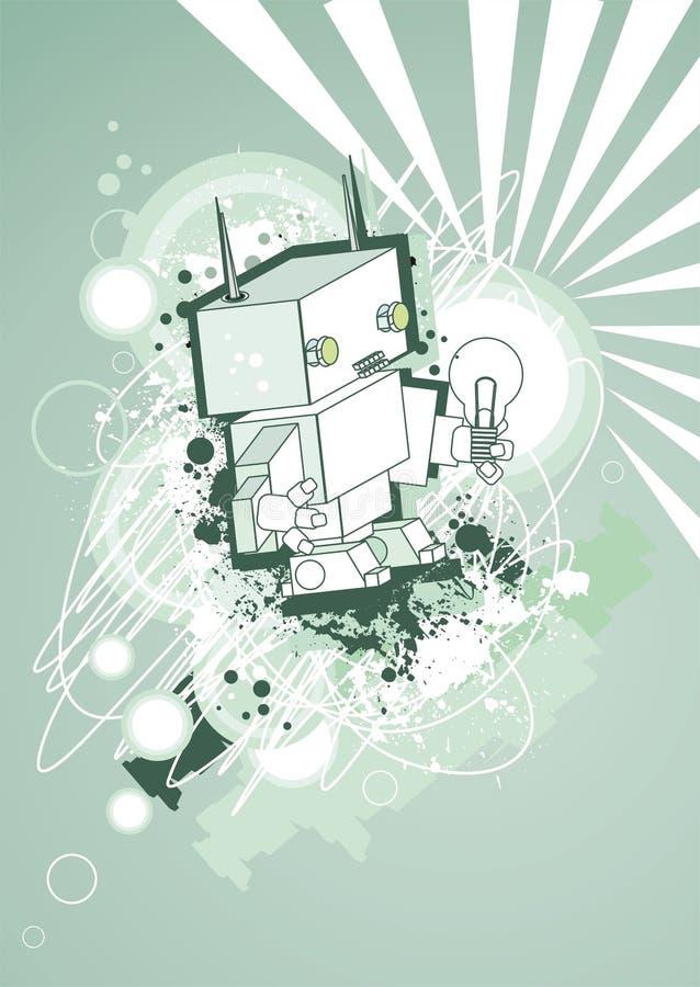 ретро робот иллюстрация вектора