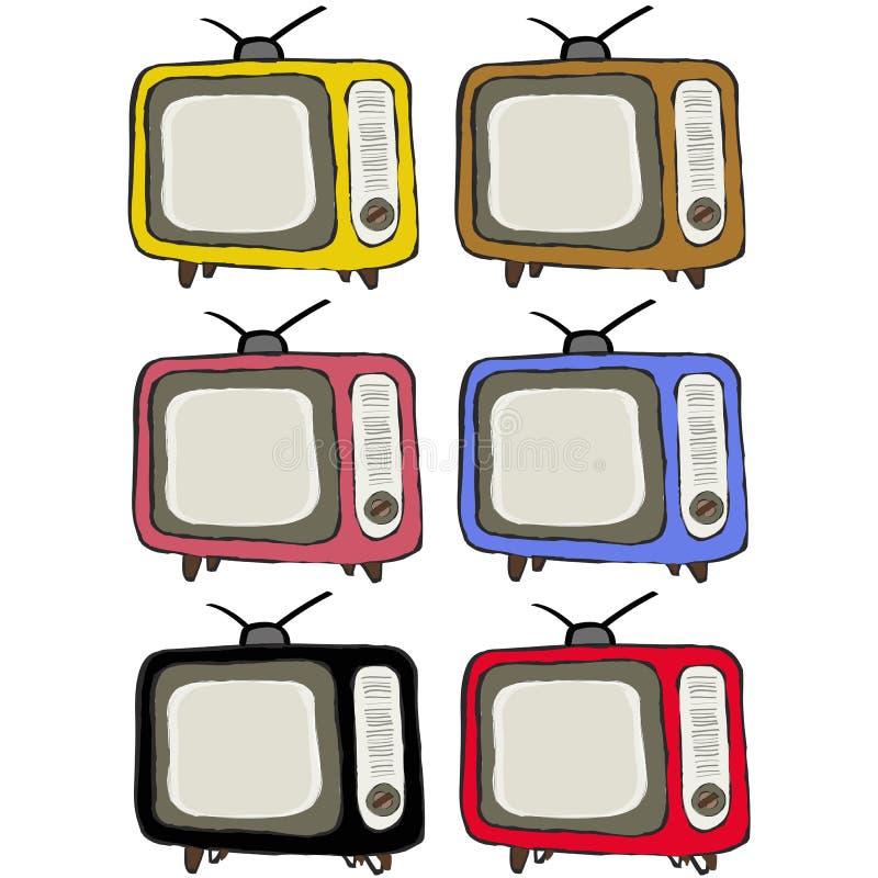 Ретро сбор винограда телевидения бесплатная иллюстрация