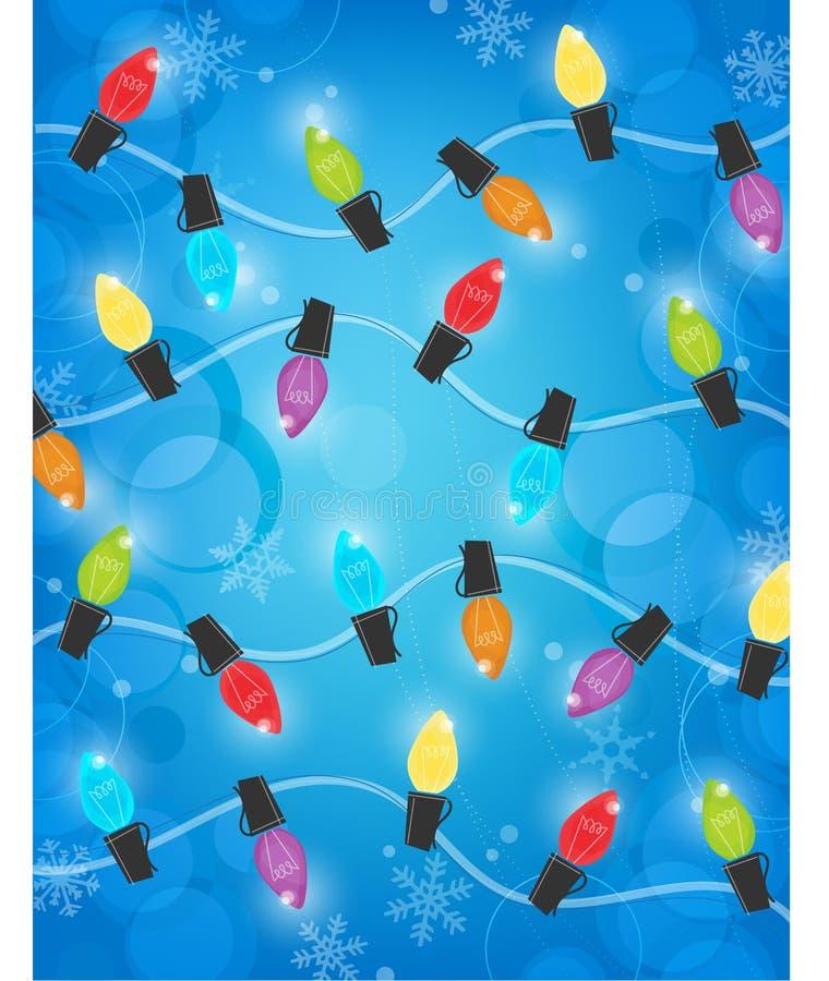 Ретро света рождества с предпосылкой Bokeh бесплатная иллюстрация