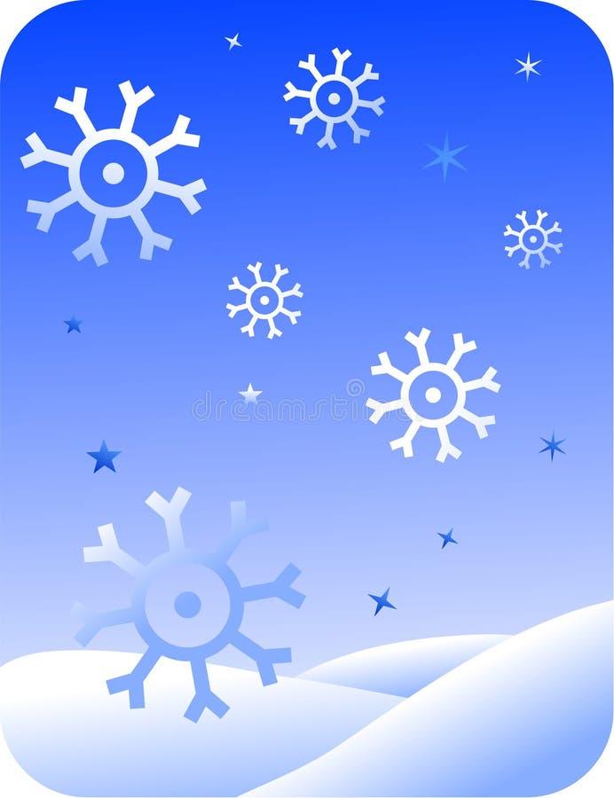ретро снежинки иллюстрация штока