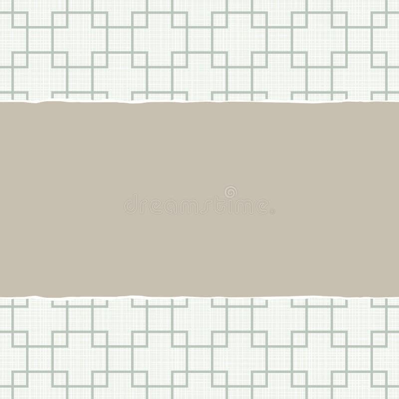 Ретро сорванная квадратами предпосылка scrapbook иллюстрация вектора