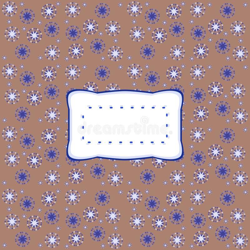 Ретро стилизованный волнистый стикер на звёздной картине иллюстрация штока