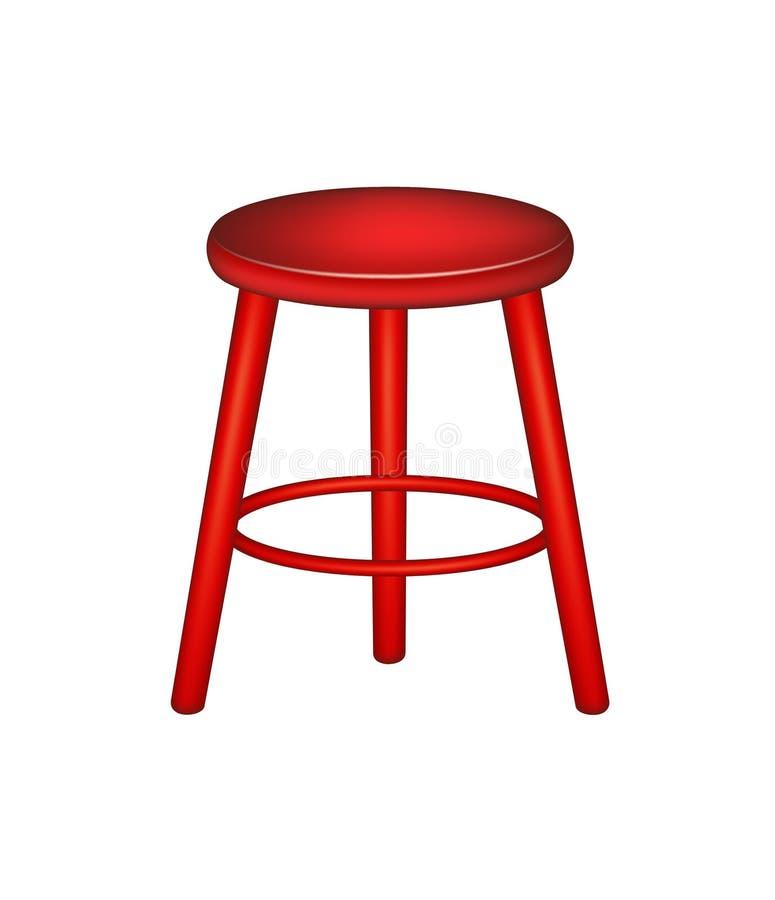 Ретро табуретка в красной конструкции бесплатная иллюстрация