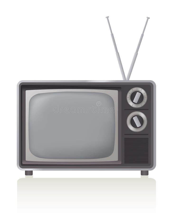 ретро телевидение иллюстрация штока