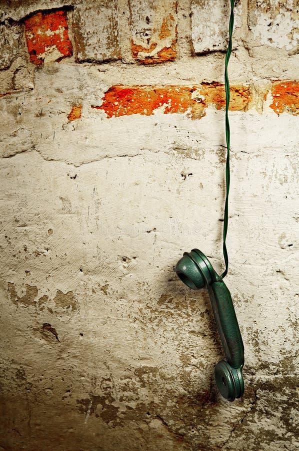 Ретро телефон - приемник телефонной трубки телефона год сбора винограда стоковые фотографии rf