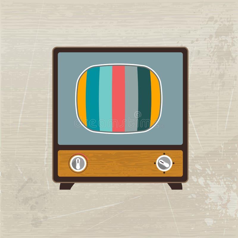 Ретро телевидение древесины моды. бесплатная иллюстрация