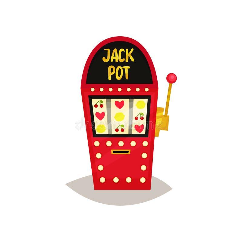 Ретро торговый автомат с символами плодоовощ vector иллюстрация на белой предпосылке иллюстрация вектора