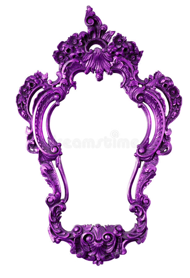 Ретро фиолетовая старая рамка, изолированная на белизне стоковая фотография