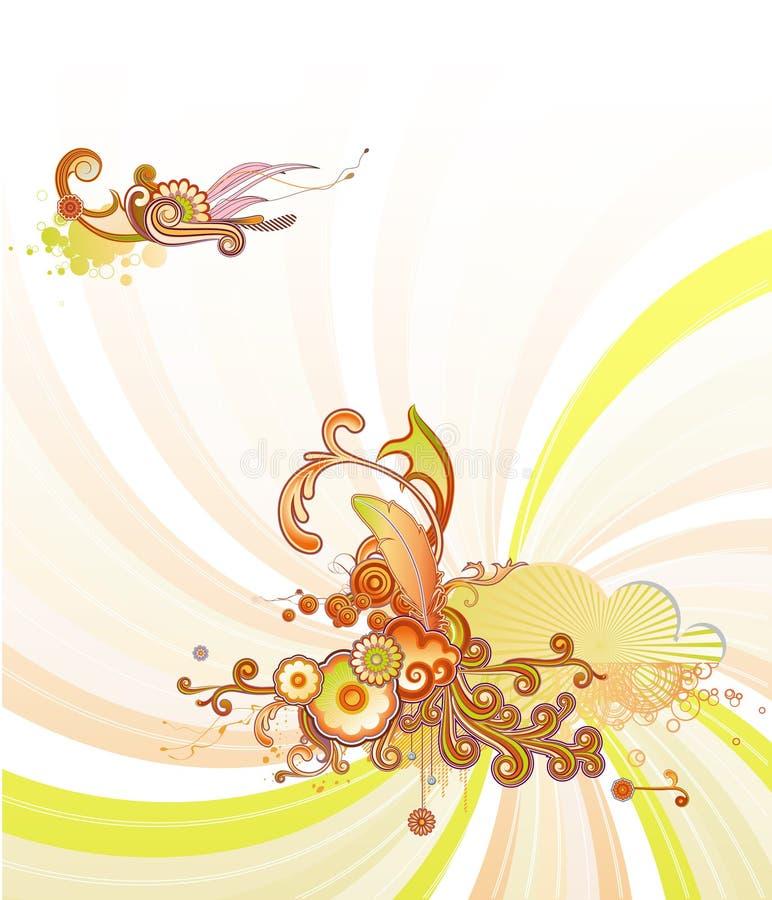 Ретро флористическая конструкция бесплатная иллюстрация