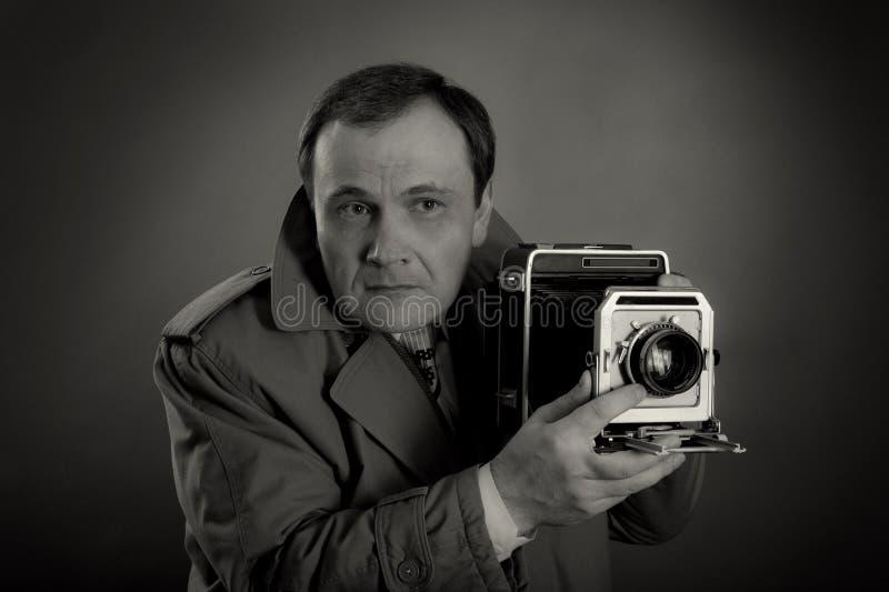 Ретро фотограф стоковое фото