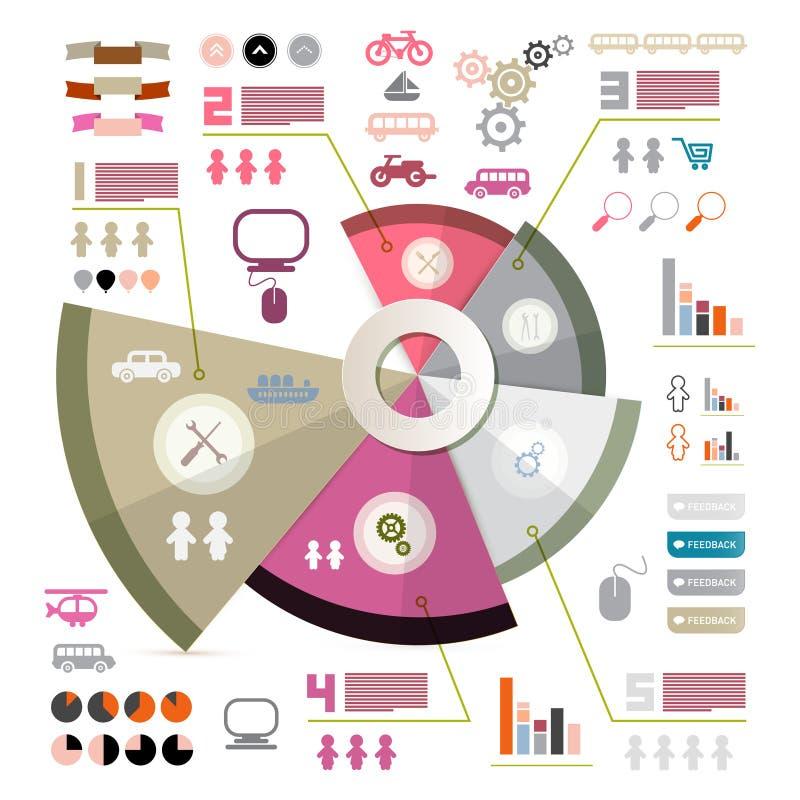 Ретро шаблон вектора Infographics бесплатная иллюстрация