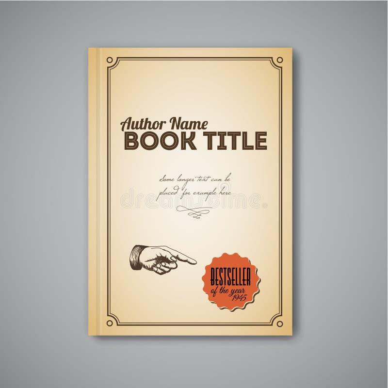 Ретро шаблон дизайна брошюры конспекта вектора иллюстрация вектора