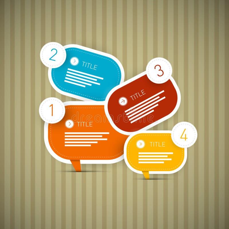 Ретро шаги прогресса бумаги вектора для консультации иллюстрация штока