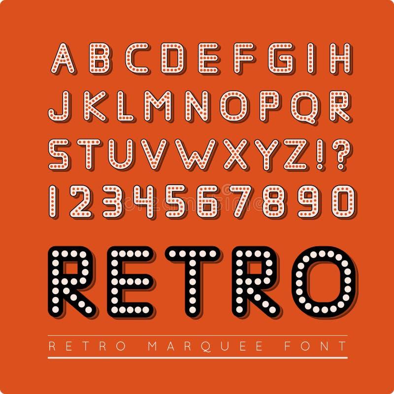 Ретро шрифт шатёр бесплатная иллюстрация