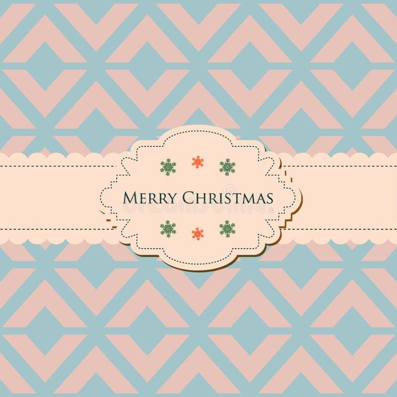 Ретро элегантная рождественская открытка бесплатная иллюстрация