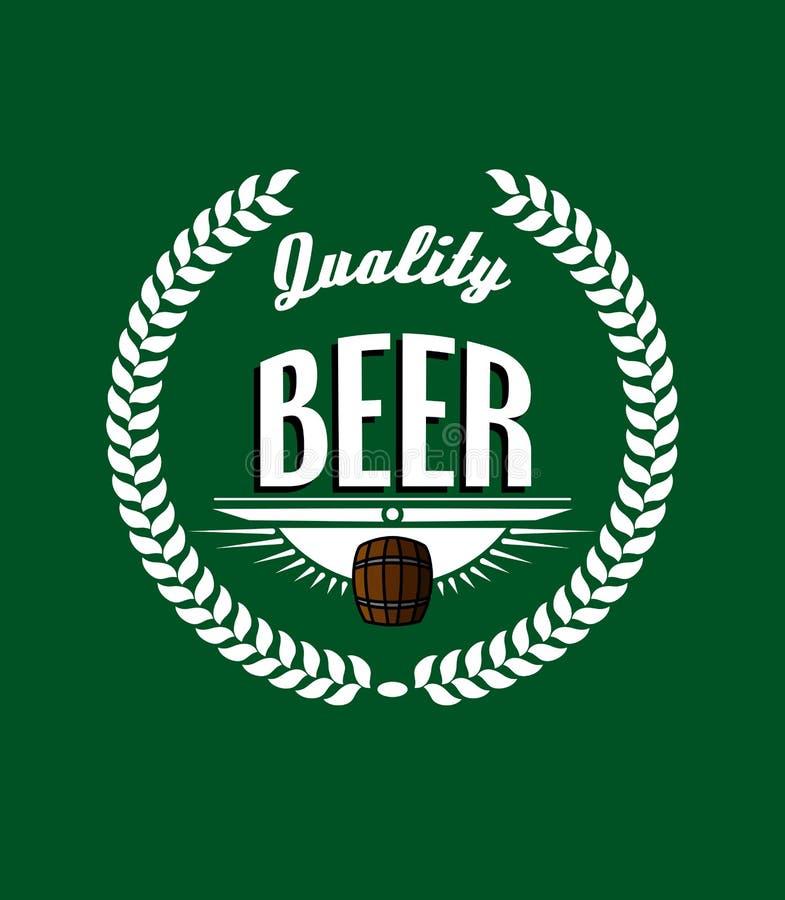 Ретро ярлык пива бесплатная иллюстрация
