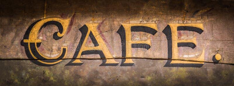 Ретро Grungy знак кафа стоковое изображение rf