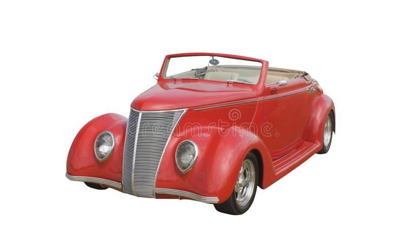 ретро ragtop coupe красное стоковые фотографии rf